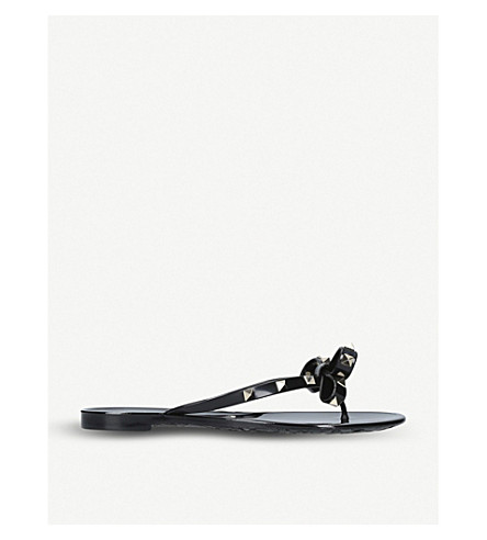 VALENTINO Rockstud leather heels (Black