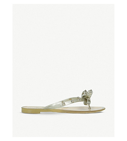 VALENTINO Rockstud rubber sandals (Gold