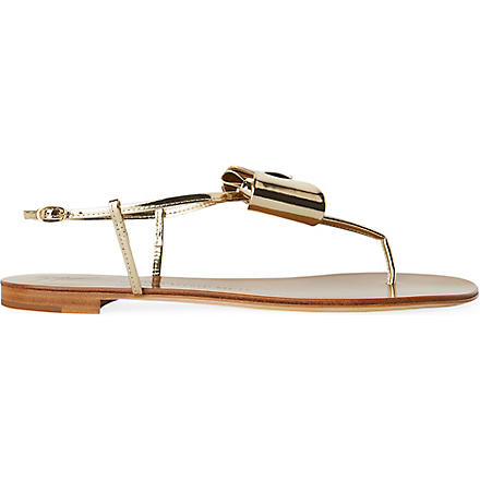 GIUSEPPE ZANOTTI Lady toe post sandals (Gold