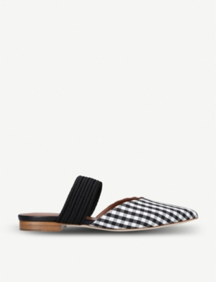 Maisie Luwolt gingham textile and braided flats