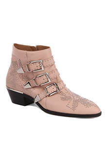 CHLOE Banshee leather ankle boots