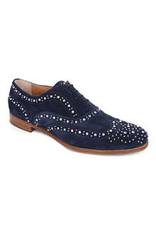 CHURCH Burwood embellished suede brogues