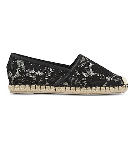 VALENTINO Escalus lace espadrilles (Black