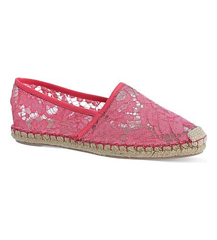 VALENTINO Escalus lace espadrilles (Fushia