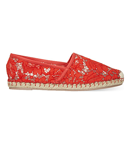VALENTINO Escalus lace espadrilles (Orange