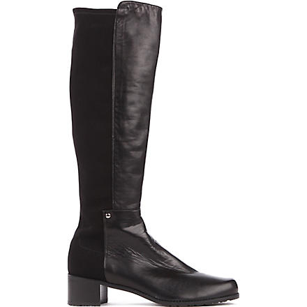 STUART WEITZMAN Mezza Mezza leather riding boots (Black