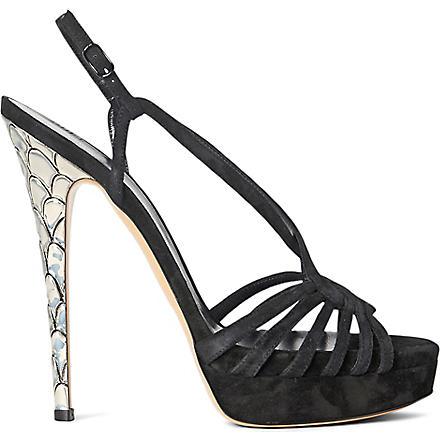 CASADEI Strappy sandals (Black