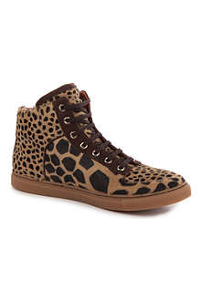 MULBERRY Giraffe-print calf-hair trainers