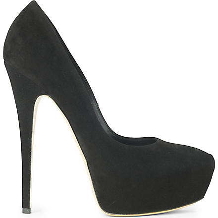 CASADEI Elphaba suede court shoes (Black