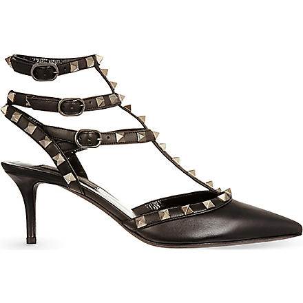 VALENTINO Studded court shoes (Black
