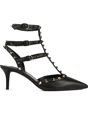 VALENTINO Matte rockstud leather courts