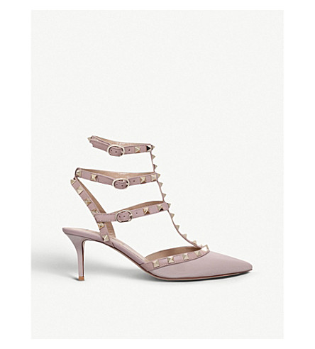 VALENTINO So noir patent-leather heeled sandals (Nude