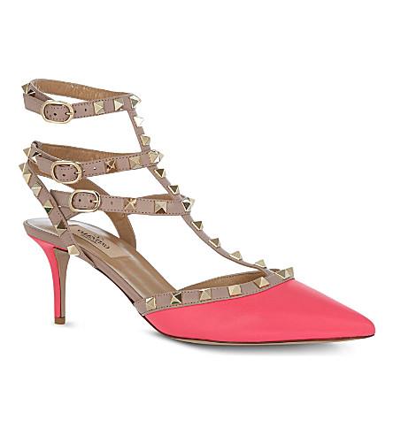 VALENTINO So Noir leather sandals (Fushia