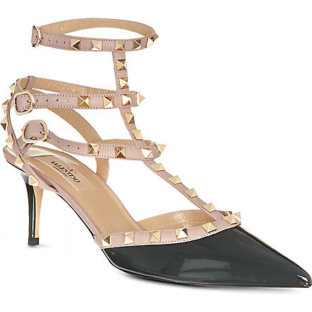 VALENTINO So Noir leather sandals (Green