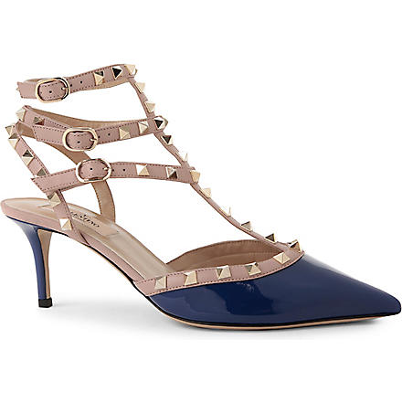 VALENTINO So Noir leather sandals (Blue