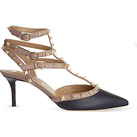 VALENTINO Rockstud leather courts (Navy