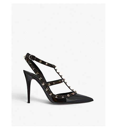 VALENTINO Rockstud leather courts (Black