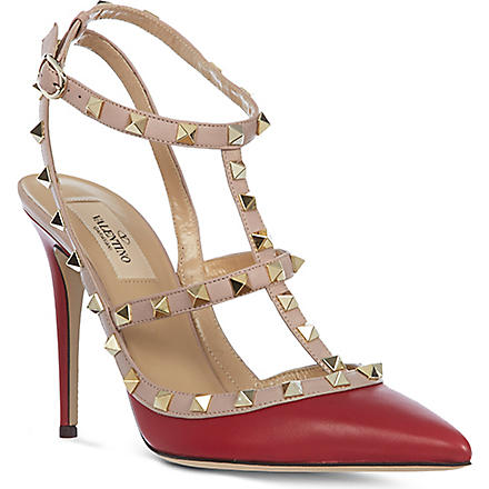 VALENTINO Noir studded leather sandals (Red