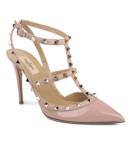 VALENTINO So Noir 100 leather stilettos (Pink