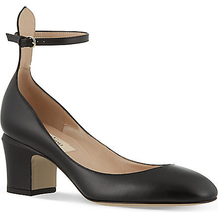 VALENTINO Tan Go 60 patent leather courts (Black
