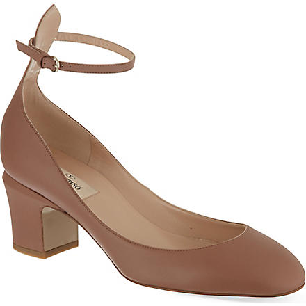 VALENTINO Tan go 60 leather pumps (Beige