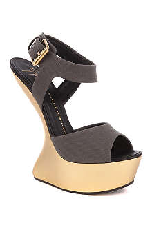GIUSEPPE ZANOTTI Lady Gaga canvas heel-less sandals