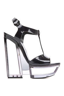 CASADEI Carnation patent-leather platform sandals