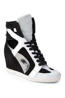 CASADEI Snapdragon suede wedge trainers