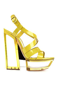 CASADEI Ivy patent leather platform sandals