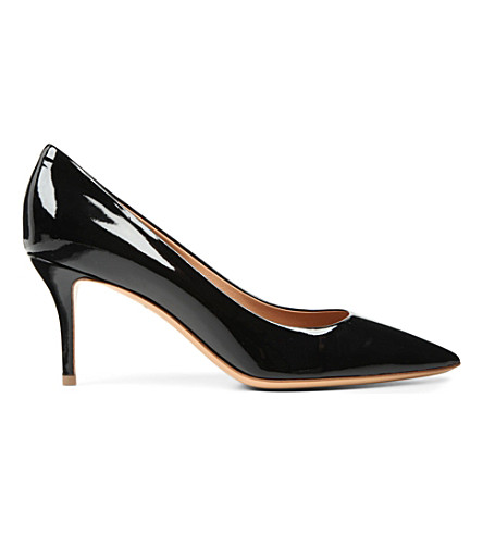 FERRAGAMO Susi patent leather courts (Black