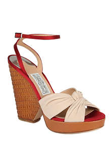 FERRAGAMO Suna suede wedge sandals