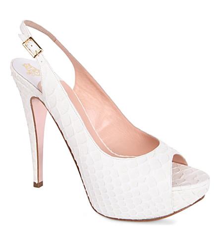 GINA Jemma platform sandals (White