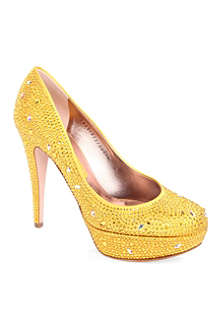 GINA Dolly Swarovski-embellished courts