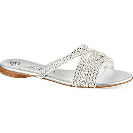 GINA Lavender sandals (Silver