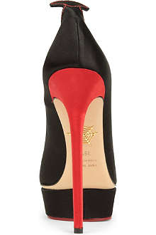 CHARLOTTE OLYMPIA Josephine satin courts