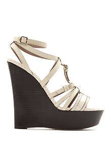 BURBERRY Strone leather wedge sandals