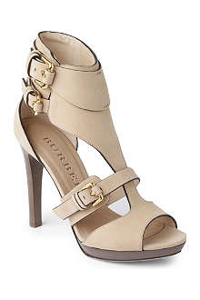 BURBERRY Kenley leather sandals
