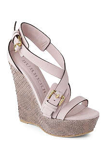 BURBERRY Milverton wedge sandals