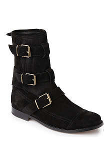 BURBERRY Butterfield suede ankle boots