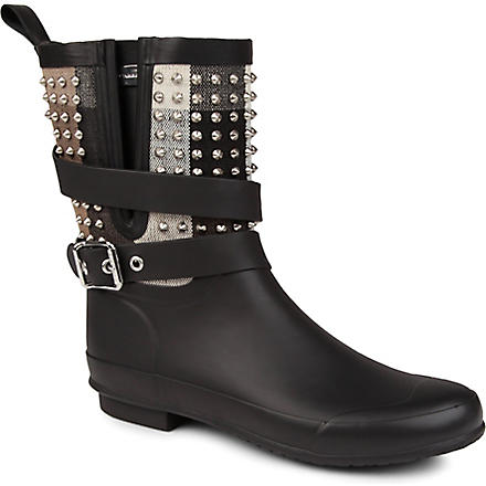 BURBERRY Holloway studded wellies (Blk/other