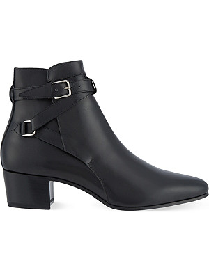 SAINT LAURENT Signature jodhpur boots in black leather
