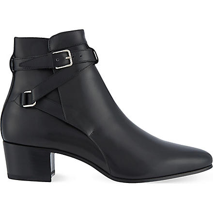 SAINT LAURENT Signature jodhpur boots in black leather (Black