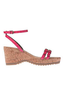STELLA MCCARTNEY Linda mock-croc wedge sandals