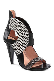 ROLAND MOURET Dolls leather and elaphe sandals