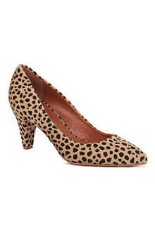 MULBERRY Giraffe-print calf hair court shoes