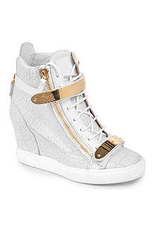 GIUSEPPE ZANOTTI Lucinda mock-croc leather wedge trainers