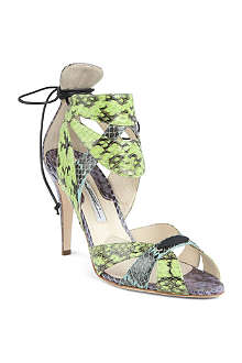 BRIAN ATWOOD Uma mock-snake leather sandals