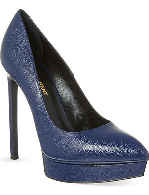 SAINT LAURENT Janis pebbled heeled pumps