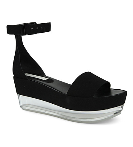 STELLA MCCARTNEY Cherie flatform sandal (Black