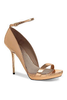 BURBERRY Chester snakeskin leather sandals